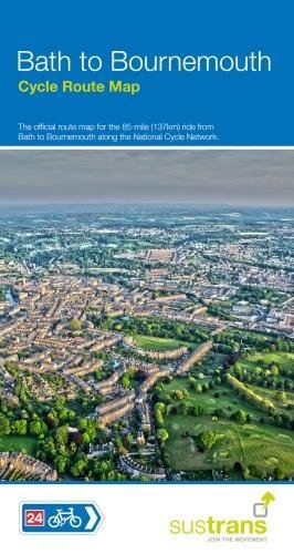Bath to Bournemouth Cycle Route Map: Official map for the 85 mile route NCN 24 & 25 (Maps) por Sustrans