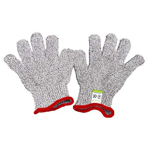 (Schnittfest Handschuhe für Kids - Lebensmittelqualität Sicherheit Cut Handschuhe für Mahlzeit Prep Basteln und Außenbereich, EN388 Level 5 Schutz vor Messer Schere Gemüseschäler)