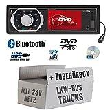 LKW Bus Truck 24V 24 Volt - Autoradio Radio Caliber RDD773BT - Bluetooth | DVD/CD | MP3 | USB | SD | TFT - Einbauzubehör - Einbauset