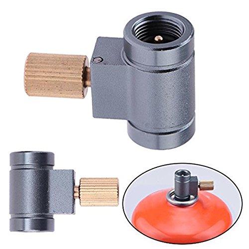 Gas Vent (LaDicha Laotie Kanister Schieber Nachfüll Adapter Vent Funktion Gas Brenner Camping Ofen Zylinder Konverter)