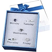 Unisex Ohrringe Set für Montag bis Freitag Special Design Gute Geschenke für Freunde preisvergleich bei billige-tabletten.eu