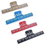 Punk clavier de piano livre page Clip Partition de musique fichier 4couleurs Mixed color Set of 4 pcs