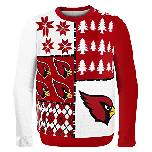Klew NFL Pullover Busy Block, Herren, SWTNFUGYBBLKACL, Arizona Cardinals, Large