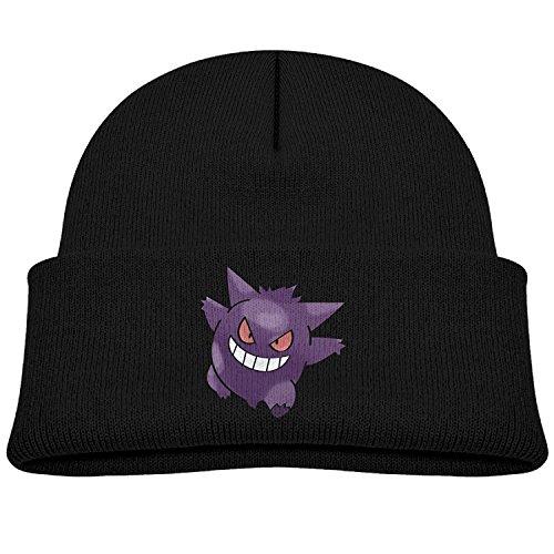 Kid Pokemon Cute Cartoon Gengar Beanie Cap Winter Hats Skull Cap 4217169b91ba