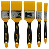 Coral 31417 Zero-Loss Paint Brushes with No Loss of Bristle Paintbrush Heads 5 piece pack set