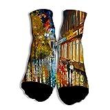NOOU Neutral Freizeit Modische Männer und Frauen Socken für Studenten Rainy Day White