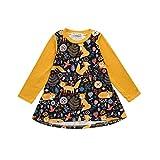 Kinderbekleidung,Honestyi Modell Niedlich Kleinkind Kinder Baby  Mädchen Karikatur Fuchs Drucken Sonne Kleid Kleider Outfits Printkleider Partykleider Minikleid Tops Shirts (12M/80CM, Gelb)