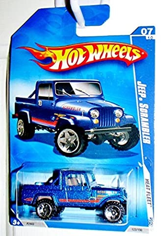 Hot Wheels 2009 Heat Fleet Blue Jeep Scrambler 1:64 Scale