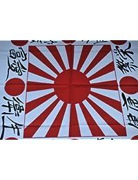 Jatujakthai Bandana 100% de algodón, diseño con el sol naciente japonés, color blanco y rojo