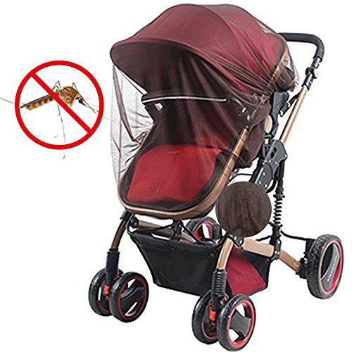 BWei Universal Insektenschutz丨Mückennetz für Kinderwagen,Buggy, Reisebett, idealer Schutz vor Wespen & Stechmücken dank feinem Netzgewebe braun