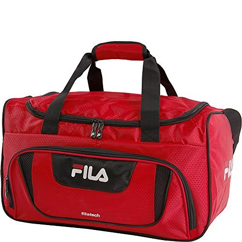 Fila Ace 2 Small Duffel Sports Gym Bag, Red, One Size