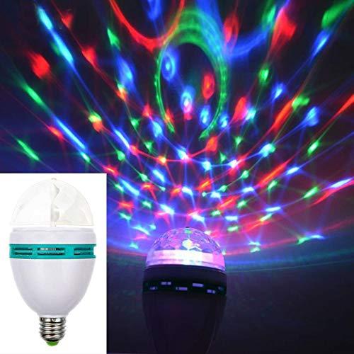 Iiloens Bunte RGB LED-Scheinwerfer-automatische drehende Lampe für Partybar Speziallampen