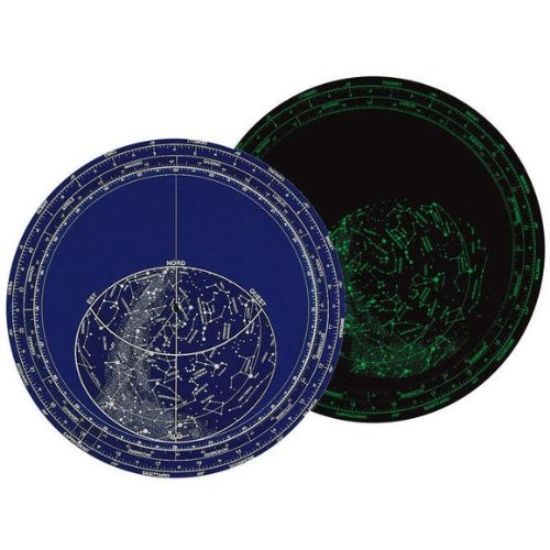 Luminescent Giant Planisphere - Stellar map glow in the dark - Plastic with high resistance to wear and water - Rotating calendar to see constellations and stars of the universe - Melquiades Original par Melquiades y Merlín S.L.