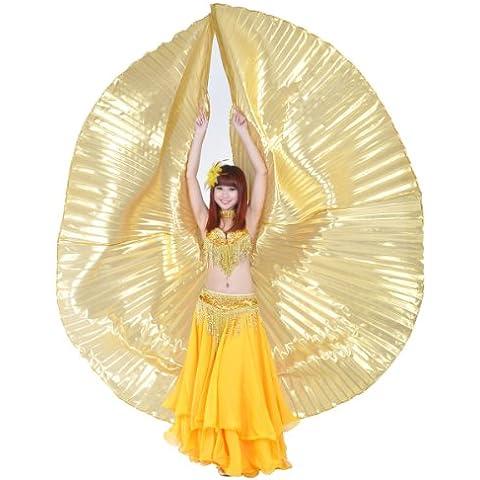 Dance Fairy oro danza del vientre alas de Isis no se pega disfraz de Halloween