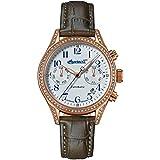 Ingersoll Damen Analog Automatik Uhr mit Leder Armband IN7401RWH