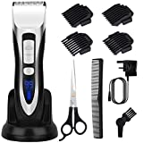 Hair Clippers Set for Men Beard Trimmer Men LCD Digital Display Cordless Hair