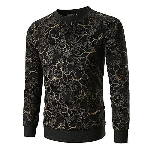 Beixundianzi felpe uomo 3d stampato colorate hoodie pullover sweatshirt vello felpe con felpa - senza cappuccio - stampa - stile americano - da uomo zzz-black m