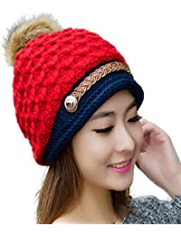 c41bfe997c2 iSweven Unisex Woolen Beanie Cap (Avaialble with 8 Different Designs and  Colours