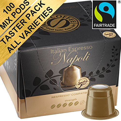 Real Coffee – 100 Fairtrade & Organic Nespresso Compatible Pods 51r9rFhoE0L