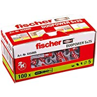 Fischer Taco Duopower 5X25 / (Caja de 100 Uds), 555005, 0 W, 0 V, Gris, Set Piezas