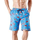Wiarapa Herren Badehose Sommer Badeshorts 3D Print Freizeit Short Schnelltrocknend Schwimmhose Board Shorts Flamingo XL