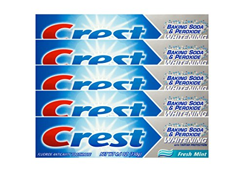 5x CREST Baking Soda & Peroxide fresh mint Zahnpasta 130g Whitening
