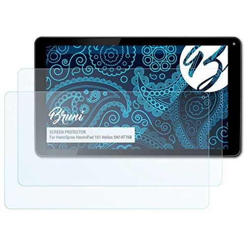 Bruni Schutzfolie für HannSpree HannsPad 101 Helios SN1AT76B Folie, glasklare Displayschutzfolie (2X)