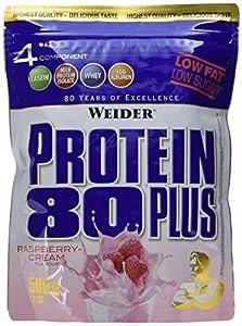 Weider, 80 Plus Protein, Himbeer-Sahne, 1er Pack (1x 500g)