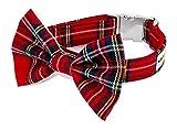 Noddy & Sweets Hundehalsband mit Fliege, handgefertigt, Schottenkaro