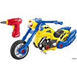 FMT Build Your Motorcycle Take-A-Part Toy For Kids With 20 Take Apart Pieces, Tool Drill, Lights And Sounds