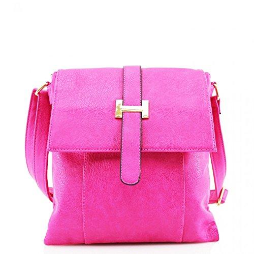 LeahWard Donna Stilista di moda Piccolo Qualità ECOPELLE borsa a tracolla Messenger Borsa Borse CW946 PINK H28cm x W25cm x D10cm