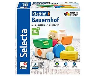 Selecta 62076 Klettini Culotte de Ferme, Jouets Empilables Velcro, 7 pièces, Multicolore