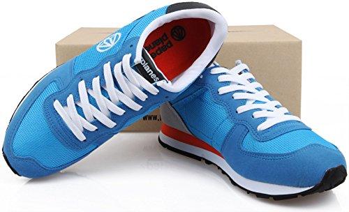 Paperplanes unisexe coloré - 1142 Plateau à chaussures de sport d'entraînement Bleu - 1142-Blue