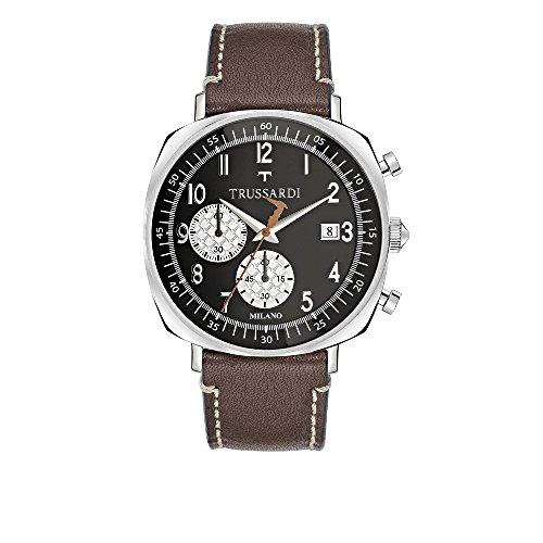 TRUSSARDI Reloj Cronógrafo para Hombre de Cuarzo con Correa en Cuero R2471621001
