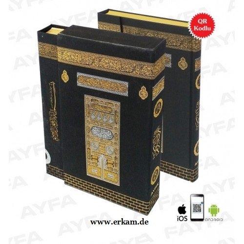 Kabe Kuran Kutulu Mühürlü Koran Quran mit Hülle Orta Boy 2 Renk 18 x 26 cm