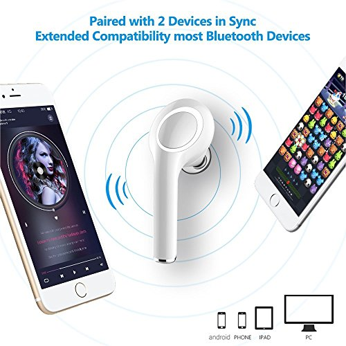 Mini Bluetooth 4.1 Earbud,Wireless Headset In ear - Earphone Invisible Earpiece Car Headphone with Mic HandsfreeCalling Suitable for Use On the Subway - iPhone Samsung Huawei (Single Right Ear)
