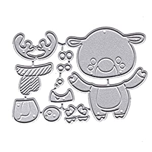 huyiko Cartoon Metall Cutting Dies Stencil DIY Scrapbooking Album Briefmarken Papier Karte Dekoration