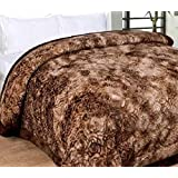 Ab Home Decor Soft Microfibre Double Bed Winter Heavy Quilt Razai (Coffee)