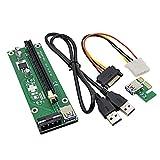 adaptare 49122 PCIe-Riser x16-Karte in x1-Slot über USB 3.0-Kabel