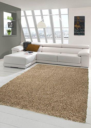 Peluda de pelo largo alfombras baratas Mocca (Shaggy sueño) Größe 200 x 290 cm