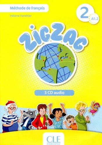 Zigzag 2 - Niveau A1.2 - CD audio collectif par Hélène Vanthier