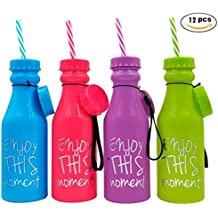 Lote de 12 Botellas Pvc Enjoy - Ideales para Detalles para Bodas, Regalos para Fiestas