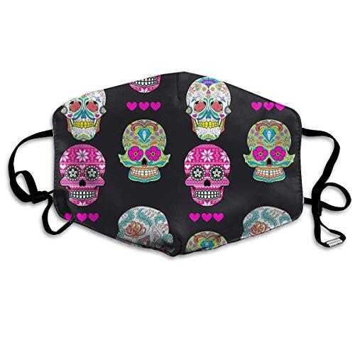 Daawqee Staubschutzmasken, Sugar Skull Face Masks Breathable Dust Filter Masks Mouth Cover Masks with Elastic Ear ()