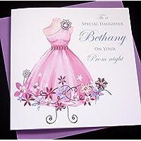 Handmade Personalised Prom Night Card