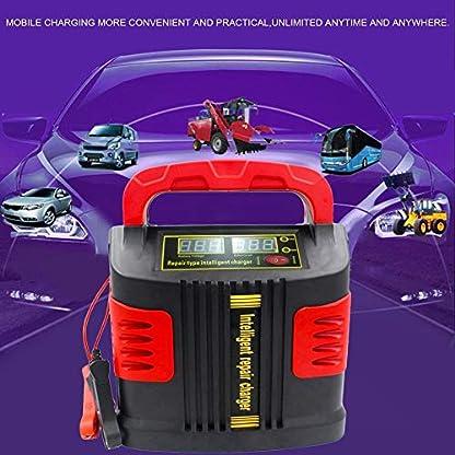 51r9zfaLrVL. SS416  - Huihuiya Cargador portátil Inteligente Coche del vehículo Vehículo de Motor 350W 14A Ajuste del Coche LCD Cargador de batería Coche Salto Arrancador Booster-Rojo y Negro