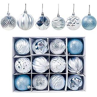 12 Piezas Bolas de Navidad de 6 cm, Adornos Navideños para Arbol, Decoración de Bolas de Navidad Inastillable Plástico de Cobre y Dorado, Regalos de Colgantes de Navidad