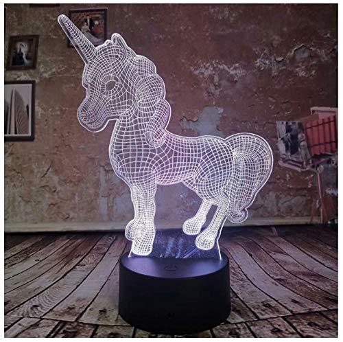Illuminazione Regalo creativo per bambini Lampada LED 3D Lampada da notte 7 Auto Colore Sfumatura Illusione USB Luce per bambini Regali di decorazioni di Nat
