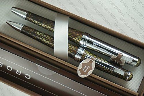 A.T. Cross Executive Begleiter echtes Texturen und Diamondback Italienisches Leder Selectip Rollerball und Kugelschreiber aus echtem Leder. Imagine A Set Stifte aus Cross stabil.