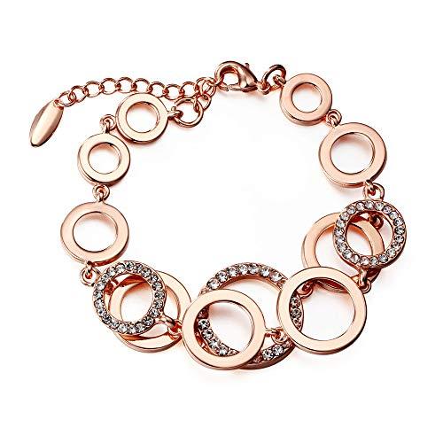 Jewels Galaxy Copper Strand Bracelet for Women (Golden) (CT-BNGR-49001)