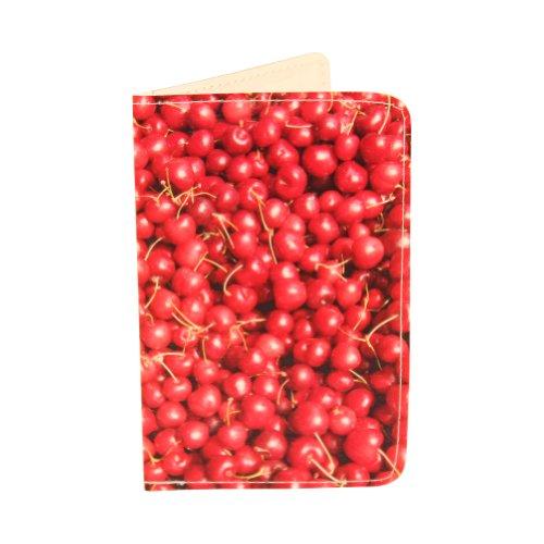 fresco e divertente Foodie porta carte Portafogli, Cherries (nero) - CH-1807A